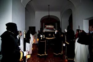 En el claustro del Monasterio